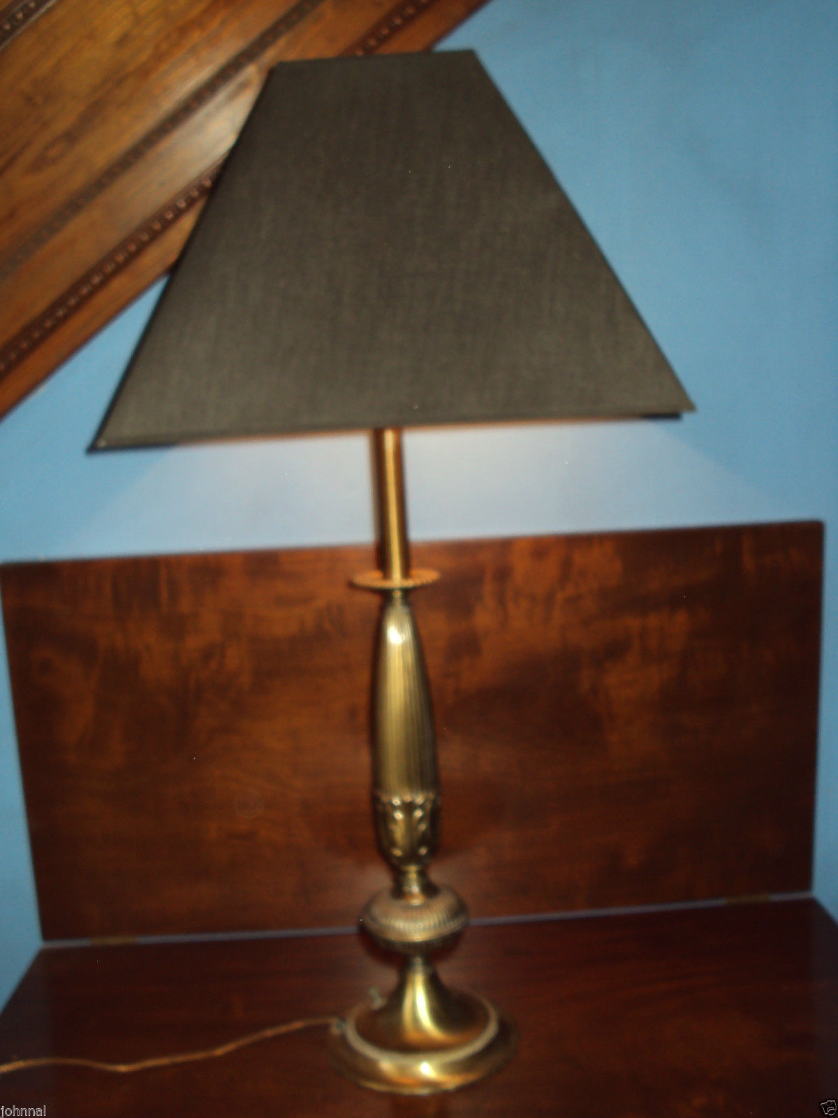Brass REMBRANDT Table Lamp Light Elegant Vintage Mid Century stamped 1591 VG