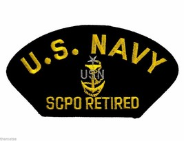 NAVY SCPO RETIRED E-8 SENIOR CHIEF PETTY OFFICER EMBROIDERED MILITARY PATCH - $23.74