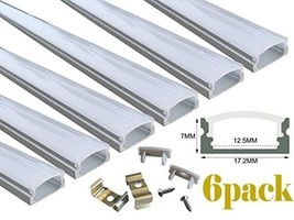 6 PACK 1M 33ft Aluminum LED Channel LED Strip Lights Easy Cut & Install ... - $48.72