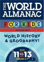 LOT OF 2 WORLD ALMANAC CARDS AGES 11-13 - $19.80