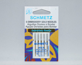 Schmetz Embroidery Gold 5 Needles in Package 13... - $5.25
