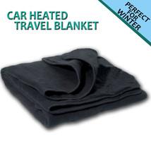 Zone Tech Car Heated Polar Fleece Electric 12V Portable Warm Travel Blanket - $25.99