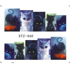 "HS Store -1 Sheets Funny Nail Sticker Water Decals Nail Art Kode ""STZ460"" - $2.52"