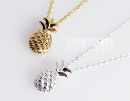 Sweet pineapple necklace, fruit necklace, pineapple charm, pineapple nec... - $8.90