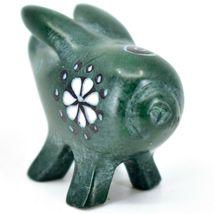 Tabaka Chigware Hand Carved Kisii Soapstone Green Pig Miniature Mini Figurine image 3