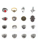 16style Game Dark Souls Ring leo Moon Dragon Tooth Hornet sterling ring ... - $11.99