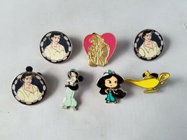 Disney Official Trading Pins Aladdin Lanyard Collectible Lot of 7 - $26.03