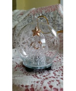 Nativity Illuminating Color Changing Spun Glass Ornament with gift box    - $9.00