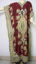 Red Psychedelic Geometric Kaftan Robe Gown Free Size Nightwear Handmade ... - ₨991.93 INR