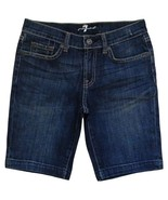 7 For All Mankind Size 12 Girls Blue Capri Jean Shorts - $22.99
