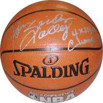 John Salley signed Indoor/Outdoor Basketball Spider & 4 X NBA Champion (... - $88.95