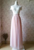 BLUSH High Waist Full Tulle Maxi Skirt Blush Wedding Women Maxi Tulle Skirts NWT image 2
