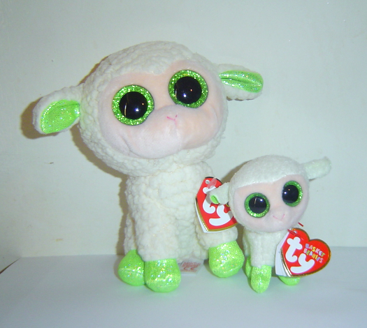 Ty Beanie Boos LaLa the Lamb 6in and her Baby Lala Basket Beanie