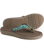 Teva Voya Flip-Flops (For Women) Blue Floral Size 7 Ships Free - $28.00