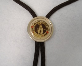 Calgary Stampede 1975 Bolo Tie Neckwear Brown Cord Brass Tips Cowboy Col... - $25.00