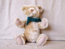 "Rare Gund Jeremy Bearkin Mohair Bear 12"" Jointed  - $29.69"