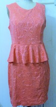 NEW H&M POLYESTER CORAL TEXTURED KNIT BROCADE B... - $29.95