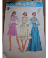 Retro Simplicity Misses Size Med 14 Blouse Skirt & Belt 1975 # 7001 - $5.99