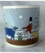 Taylor & Ng Coffee Mug Cup Gentleman Farmer Blue Bull Cow Dog San Franci... - $24.49