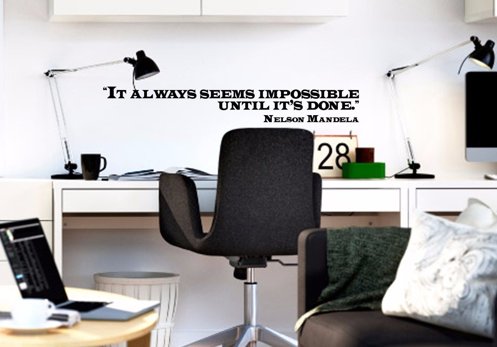 """Nelson Mandela Classroom Educational Quote Vinyl Wall Sticker Decal 3""""h x 22""""w"""