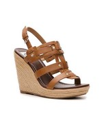 DV Dolce Vita Tasco Womens Faux Leather Platform Sandals Wedges Shoes Br... - $38.39