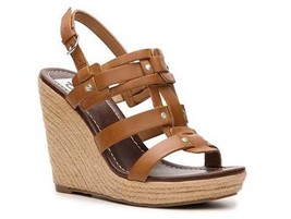 DV Dolce Vita Tasco Womens Faux Leather Platform Sandals Wedges Shoes Br... - £29.70 GBP