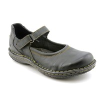Born Steph Womens Black Leather Mary Janes Flats Shoes 6 M W - $47.99