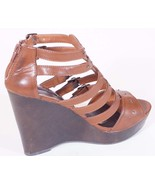 Material Girl Toro Womens Brown Open Toe Platform Wedges Sandals Shoes 9.5 M - $23.39