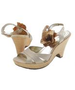 Style & Co Darlin Womens Pale Gold Flower Sandals Heels Wedges Platform ... - $23.99