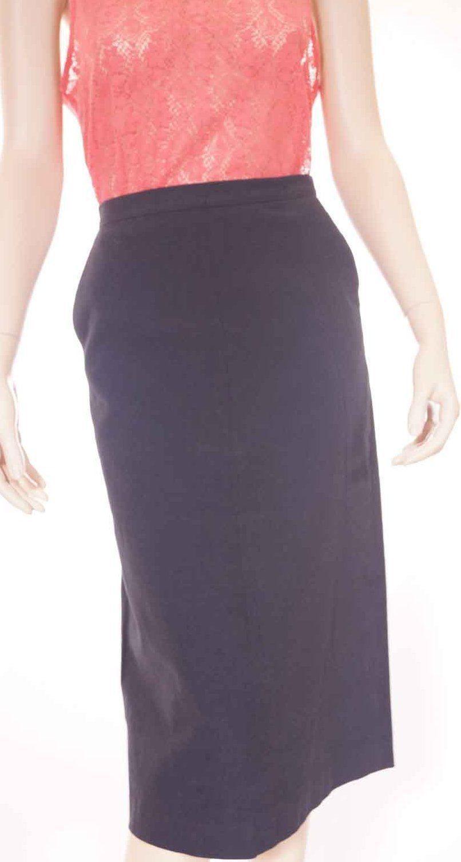 Elie Tahari Womens Navy Lined Alexandra Straight Maxi Skirt Size 4 - $55.99