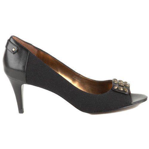 Ellen Tracy Finch Womens Black Open Toe Pumps Heels Shoes-6.5 - $34.39