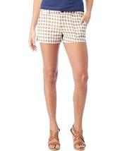 Splendid Womens Brown White Checkered Plaid Gingham Shorts 10 Medium SWB... - $39.99