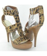INC International Concepts Morgan Womens Brown Leopard High Heels Shoes 7.5 - $20.79