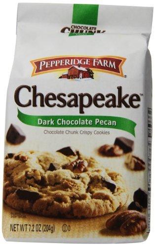 Pepperidge Farm Chesapeake, Crispy, Cookies, Dark Chocolate Pecan, 7.2 oz, Bag,