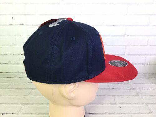 Marvel Captain America Shield Embroidered Blue Red Adjustable Snapback Hat Cap