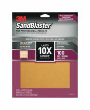 3M  SandBlaster  11 in. L x 9 in. W 100 Grit Medium  Ceramic  Sandpaper ... - $7.37