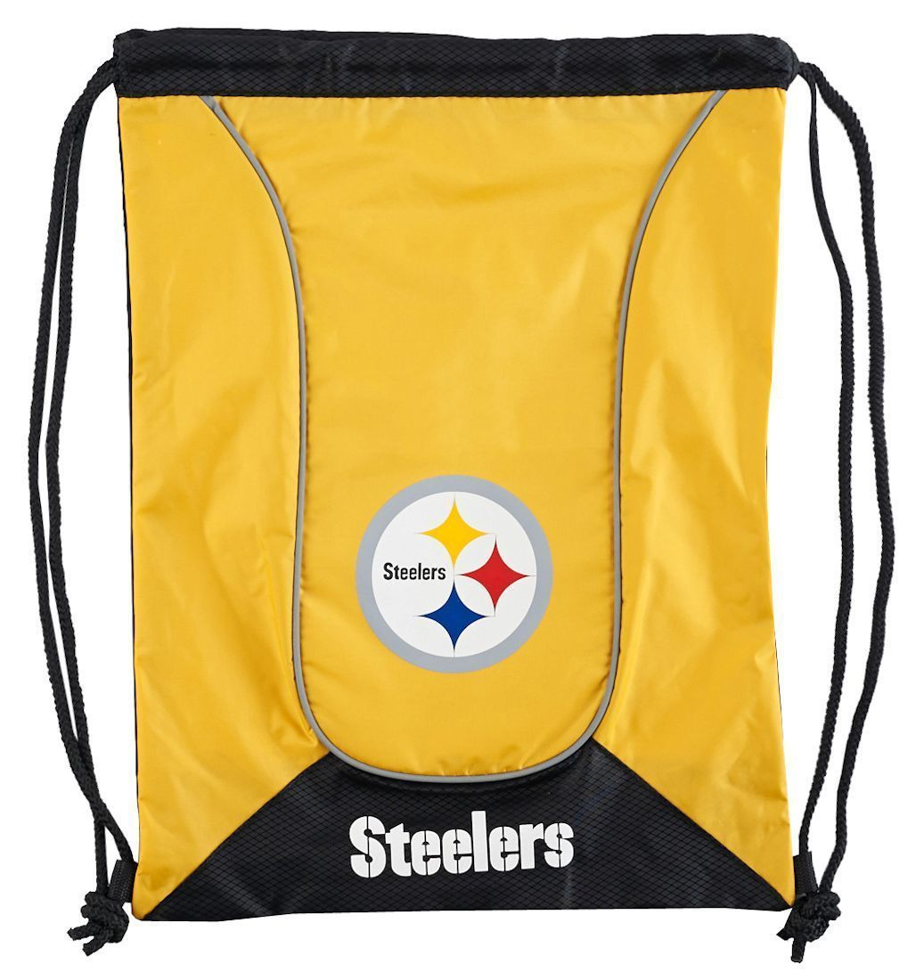 PITTSBURGH STEELERS DOUBLEHEADER BACK SACK PACK SCHOOL GYM BAG NFL FOOTBALL