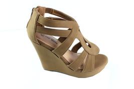 Top Moda Platform Wedge Sandal Open Toe Strappy... - $19.99