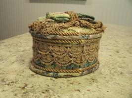 Beautiful Fabric Heritage House Enchantment Music / Trinket Box Plays Ye... - $23.76