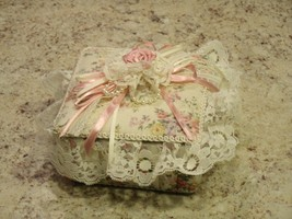 Beautiful Fabric and Lace Heritage House Enchantment Music Box Somewhere... - $22.28