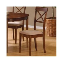 Dinette Kitchen Chairs Home Dining Cushion Seats ~ Walnut Set of 2 Free Shipping - $232.15