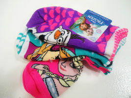DISNEY - FROZEN - GIRL'S - (3) PACK - SOCKS - PURPLE - PINK - AQUA - BRAND NEW image 6