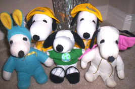 lot Snoopy Peanuts Gang plush lot  Snoopy plush doll Stuffed Animal toy ... - $25.00