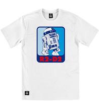 Addict Star Wars R2-D2 Etichetta Di Sport bianco girocollo Tee T-Shirt - $49.42