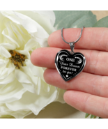 One Year Wedding Anniversary Husband and Wife Gift - Couple Heart Neckla... - $31.63+