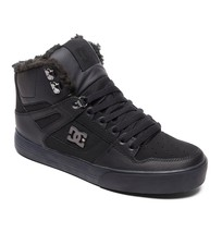 MENS DC PURE HIGH TOP WC WNT SKATEBOARDING SHOES NIB BLACK BLACK BLACK  ... - $80.99