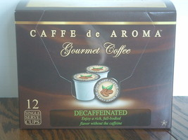 Caffe de Aroma Decaffinated Coffee 12 Single Serve K- Cups Free Shipping - $10.59