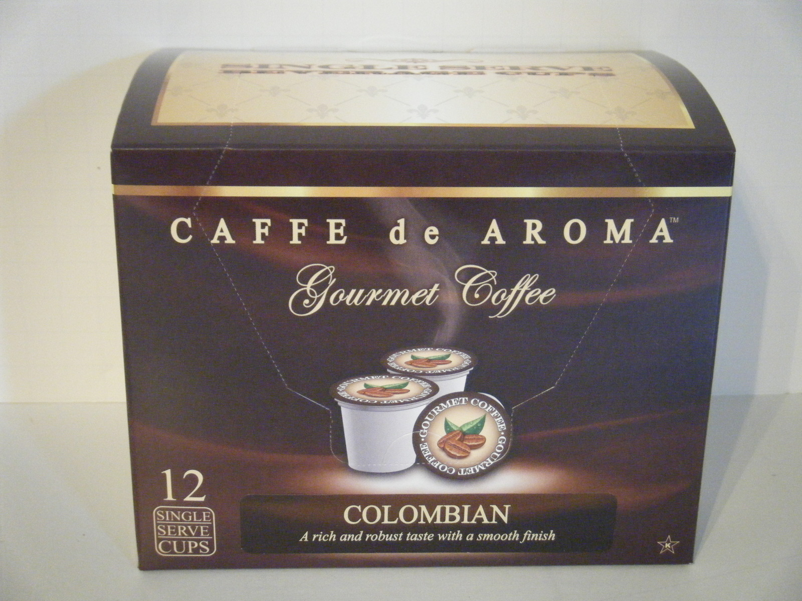 Premium Colombia Coffee in Single Serve Cups for K-Cup Brewer. Free Shipping