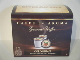 Caffe de Aroma Colombia Coffee in Single Serve Cups for K-Cup Brewer. Fr... - $9.99