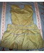 Apron - Vintage from the 1950's (Color Yellow) Smock Style - $4.95